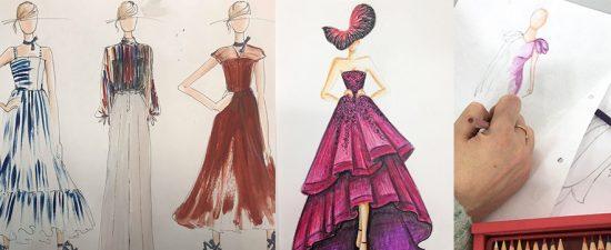 תמונה של שרטוט בגדים בקורס עיצוב אופנה